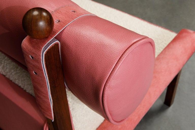Sergio Rodrigues 'Tonico' Jacaranda, Leather and Alpaca Armchairs, 1960s Brazil For Sale 12