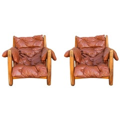 Pair of Lounge Sheriff Armchairs, Brazil, circa 1965