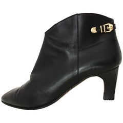 Sergio Rossi Ankle Boots Black Leather with Zipper. Great conditions. Size 40