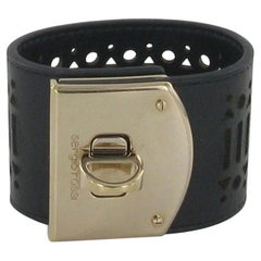 SERGIO ROSSI Cuff In Black Leather