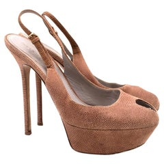 Sergio Rossi Peeptoe Platform Sandals - Size EU 37.5