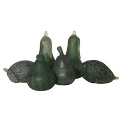 Sergio Rossi Vintage Murano Italian Art Glass Fruit, 6 Pieces