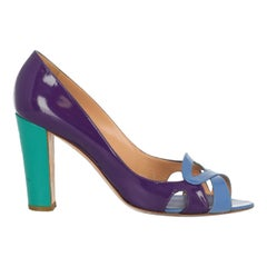 Sergio Rossi Woman Pumps Blue Leather IT 40