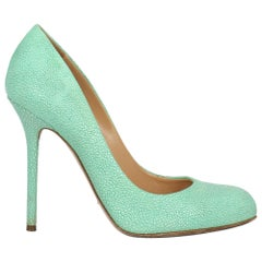 Sergio Rossi Woman Pumps Green Leather IT 37