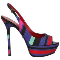 Sergio Rossi Woman Sandals Black Fabric IT 36