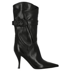 Sergio Rossi  Women   Boots  Black Leather EU 36