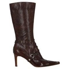 Sergio Rossi  Women   Boots  Brown Leather EU 36.5