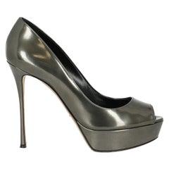 Sergio Rossi  Women   Pumps  Silver Leather EU 38