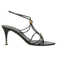 Sergio Rossi  Women   Sandals  Black Leather EU 37