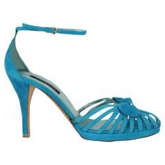 Sergio Rossi  Women   Sandals  Blue Leather EU 37.5