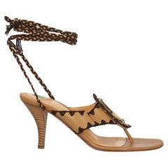 Sergio Rossi  Women   Sandals  Camel Color Leather EU 37