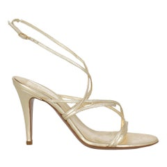 Sergio Rossi Women  Sandals Gold Leather IT 37