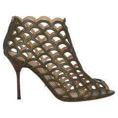 Sergio Rossi  Women   Sandals  Green Leather EU 37