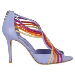 Sergio Rossi  Women   Sandals  Purple, Red, Yellow Leather EU 38