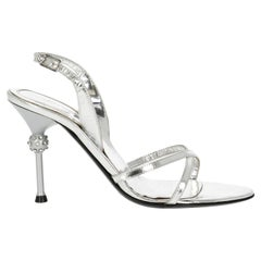 Sergio Rossi  Women   Sandals  Silver Leather EU 36
