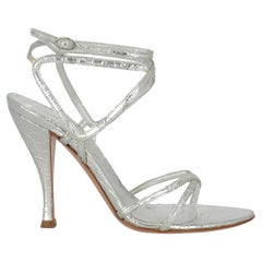 Sergio Rossi Women  Sandals Silver Leather IT 36