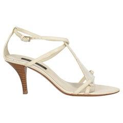 Sergio Rossi  Women   Sandals  White Leather EU 36