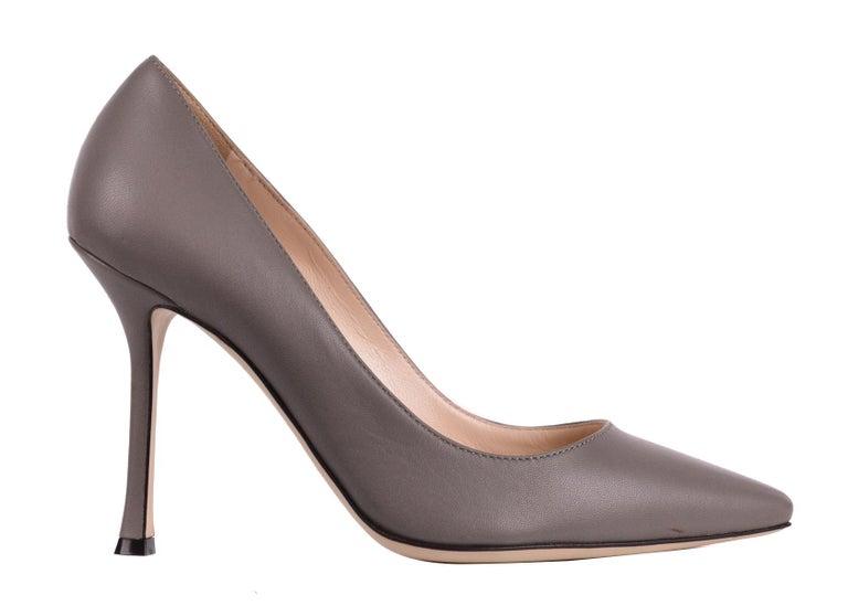 design innovativo 9fa65 96709 Sergio Rossi Womens Grey Leather Scarpe Donna Classic Pumps
