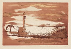 Landscape - Original Silkscreen by Sergio Vacchi - 1980s