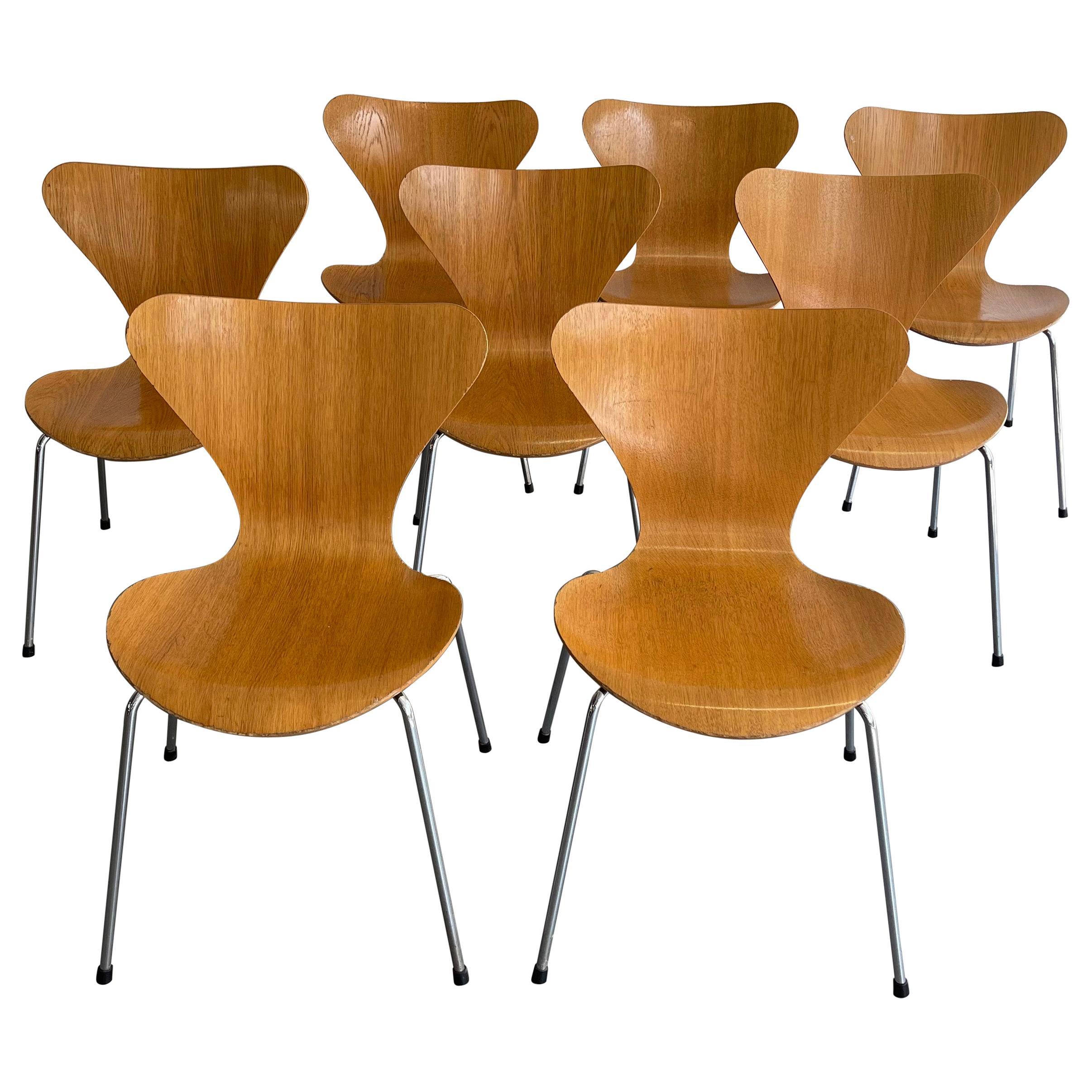 Series 7 Chairs by Arne Jacobsen for Fritz Hansen