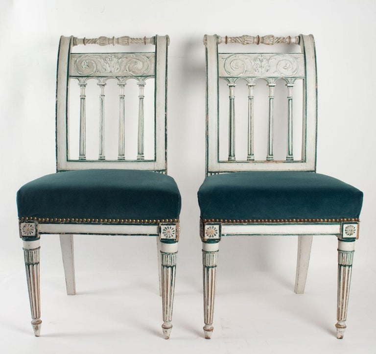 Series of 6 Chairs Directoire Period, 19th Century For Sale 3