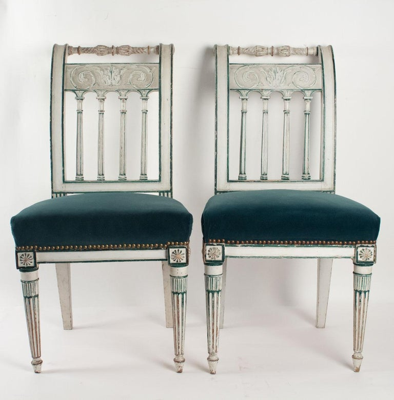 Series of 6 Chairs Directoire Period, 19th Century For Sale 4