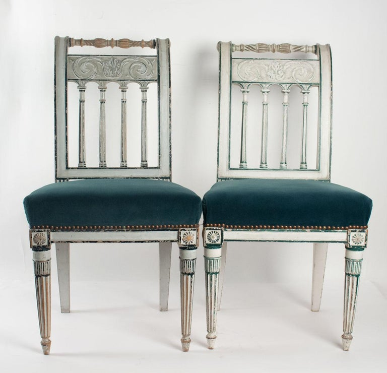 Series of 6 Chairs Directoire Period, 19th Century For Sale 5
