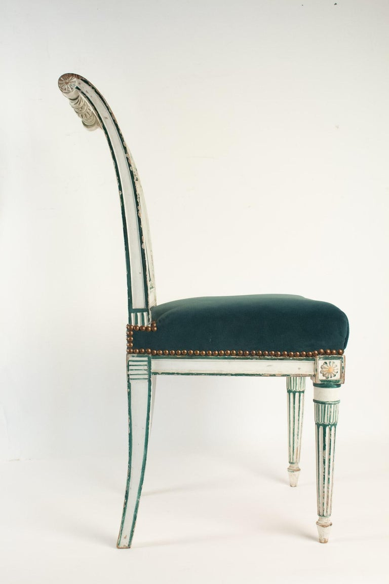 Early 19th Century Series of 6 Chairs Directoire Period, 19th Century For Sale