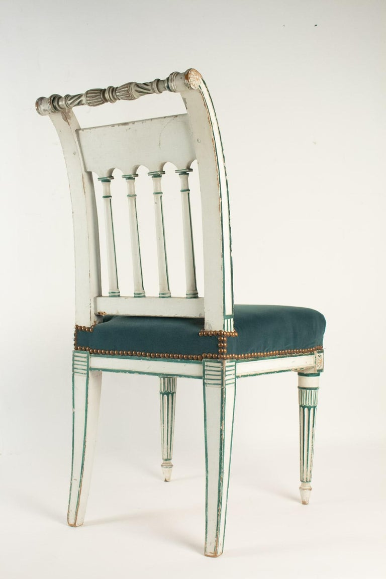 Wood Series of 6 Chairs Directoire Period, 19th Century For Sale