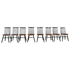 Series of 8 Scandinavian Chairs, 1960s