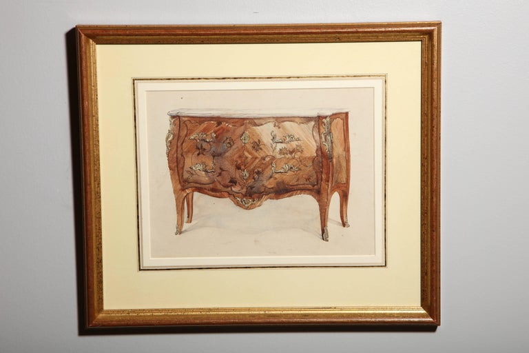 A collection can make a big impact in a space, and this collection of furniture paintings is particularly impressive. Eleven it total, these were created in the 19th century with pen, black ink and watercolors, and depict furniture from different