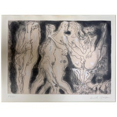 Series of Nine Surrealist Erotic Lithographs by Andre Masson, Signed / Numbered