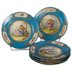 Series of Sèvres Porcelain Plates from the 19th Century