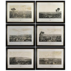 Series of Six Ink Engravings on Paper of Isla de Cuba Pintoresca