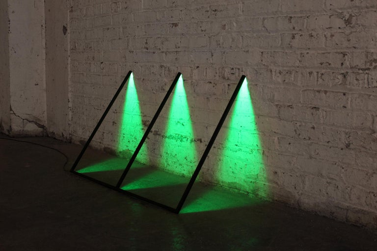 Minimalist Series, Powder-Coated Aluminum and LED Minimal Geometric Light Sculpture For Sale