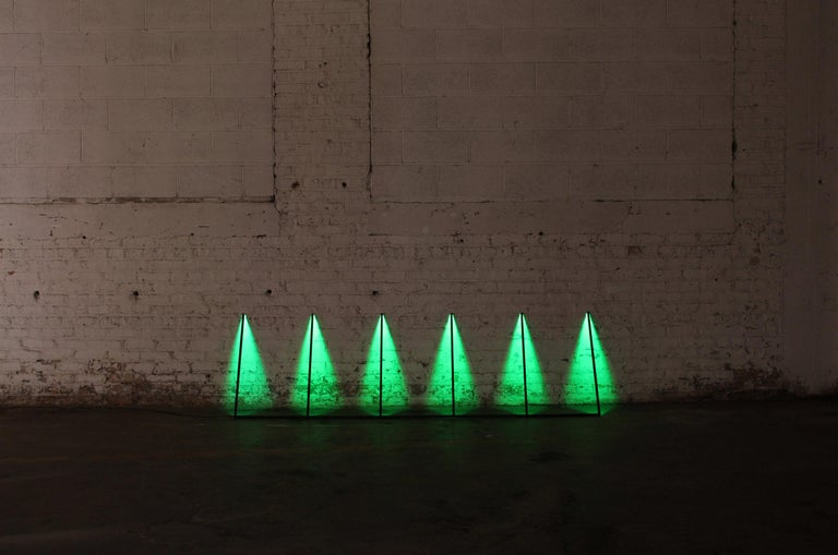 Series, Powder-Coated Aluminum and LED Minimal Geometric Light Sculpture In New Condition For Sale In Chicago, IL