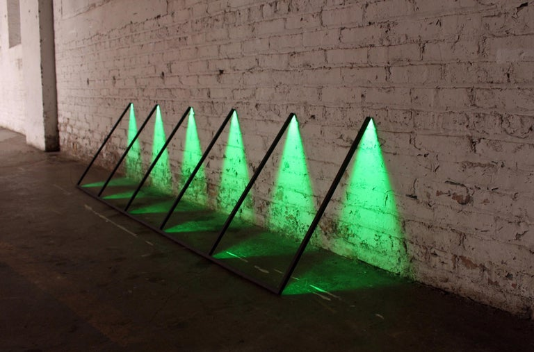 Contemporary Series, Powder-Coated Aluminum and LED Minimal Geometric Light Sculpture For Sale