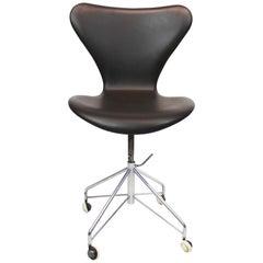 Series Seven Office Chair, Model 3117, by Arne Jacobsen and Fritz Hansen, 1950s