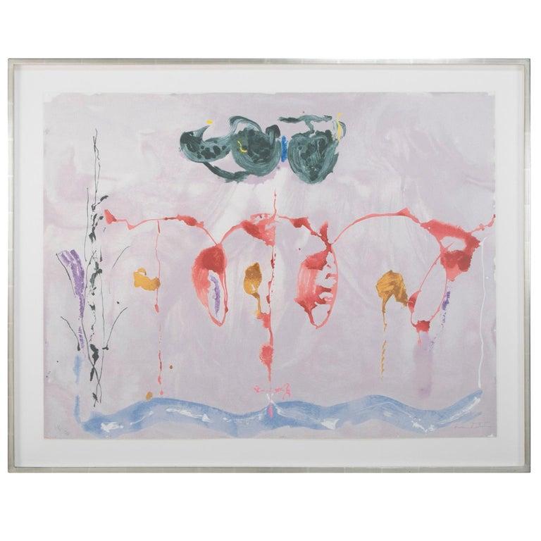 """Serigraph by Helen Frankenthaler Titled """"Aerie"""", 2009 For Sale"""