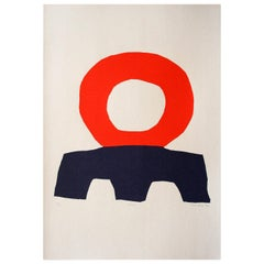 """Seroloc"" Original Bauhaus Artist Linocut Print, Signed Werner Graeff"