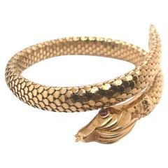 Snake 18K Cuff Bracelet