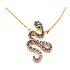 Serpent Diamond Necklace in 18 Karat Rose Gold