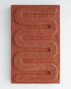 """Serpent I"" in terracotta, designed and made by Ebitenyefa Baralaye"