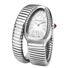 Bulgari Ladies Stainless Steel Serpenti Bracelet Quartz Wristwatch Ref 101827