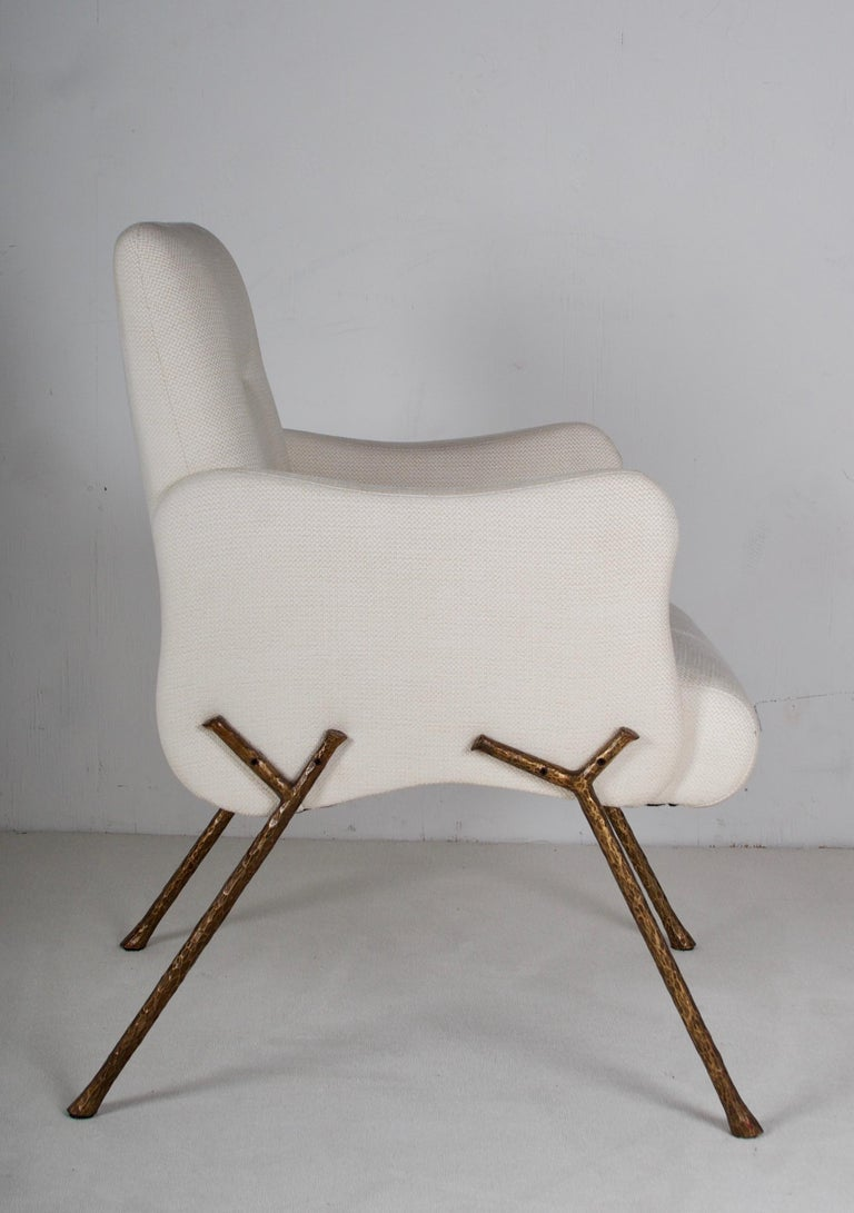 Modern Serpentine Armchair by Therien Studio For Sale