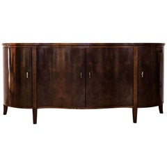 Serpentine Front Buffet in Burl Walnut