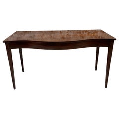 Serpentine Front Mahogany Server or Console Table Late 19th Century