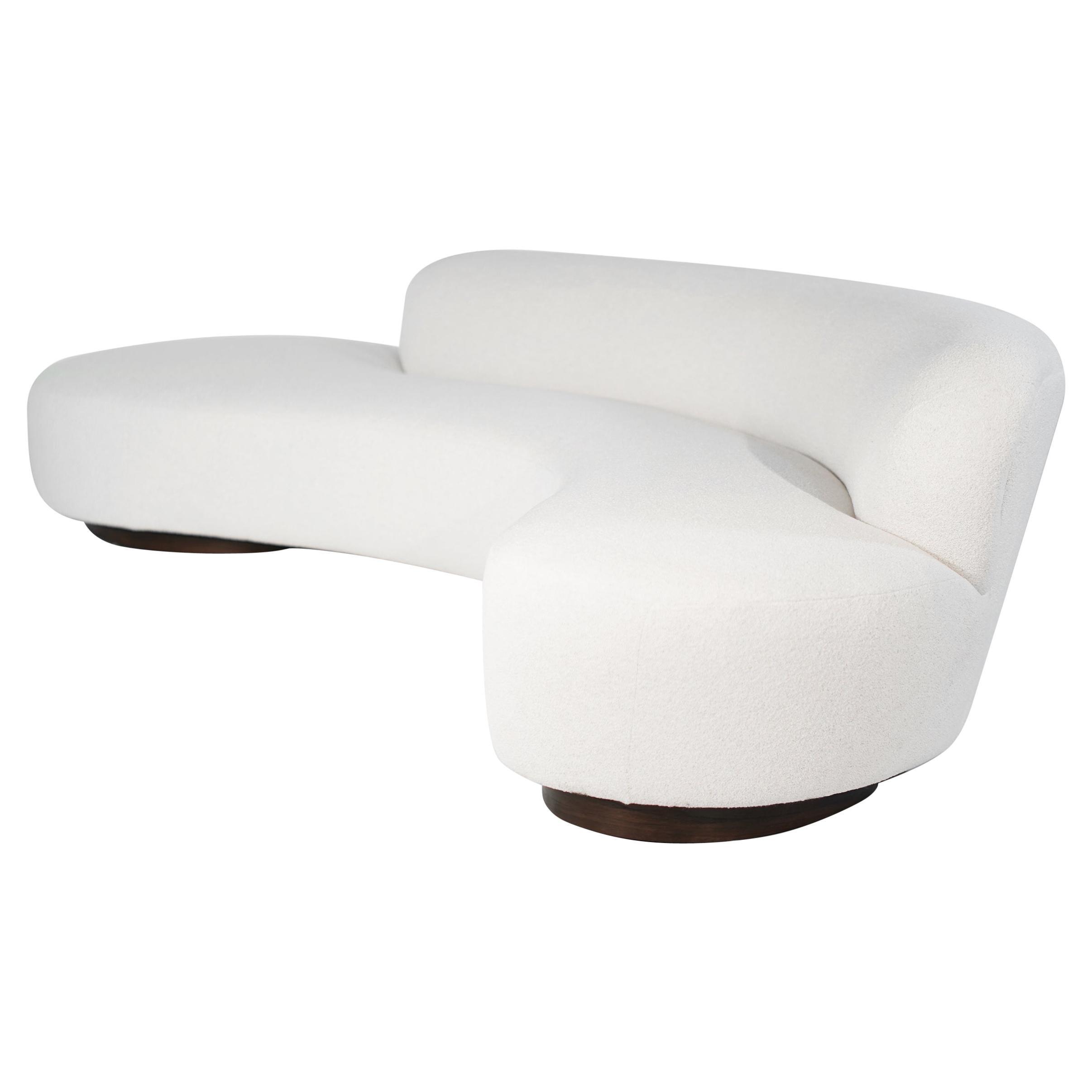 Serpentine Sofa by Vladimir Kagan in Bouclé