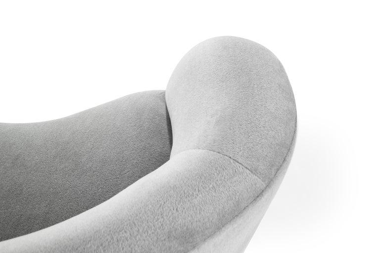 Serpentine Sofa by Vladimir Kagan in Grey Royal Alpaca 4