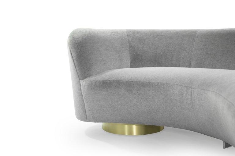 Serpentine Sofa by Vladimir Kagan in Grey Royal Alpaca 5